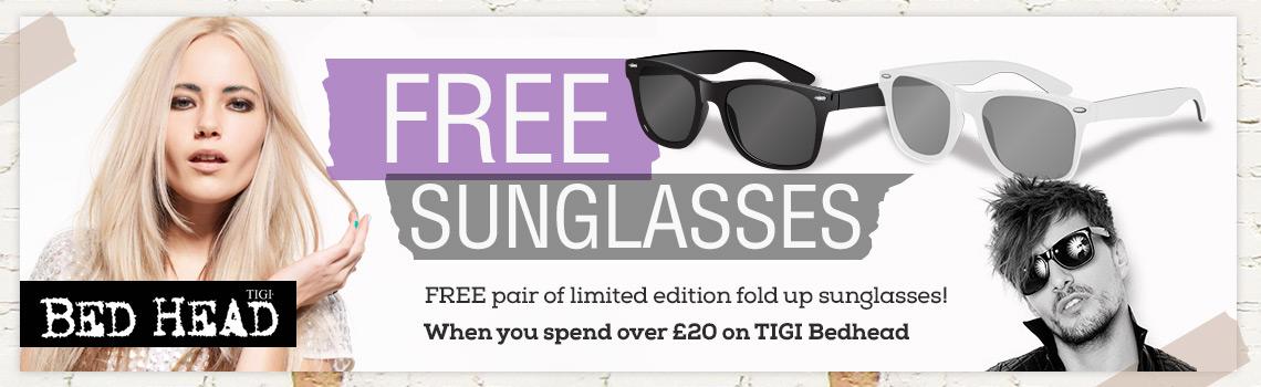 47097c2d0f4 tigi-bedhead-free-sunglasses-banner - Inbox Creative