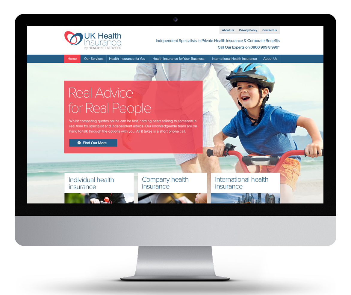 Uk Health Insurance Wiltshire Web Design By Inbox Creative