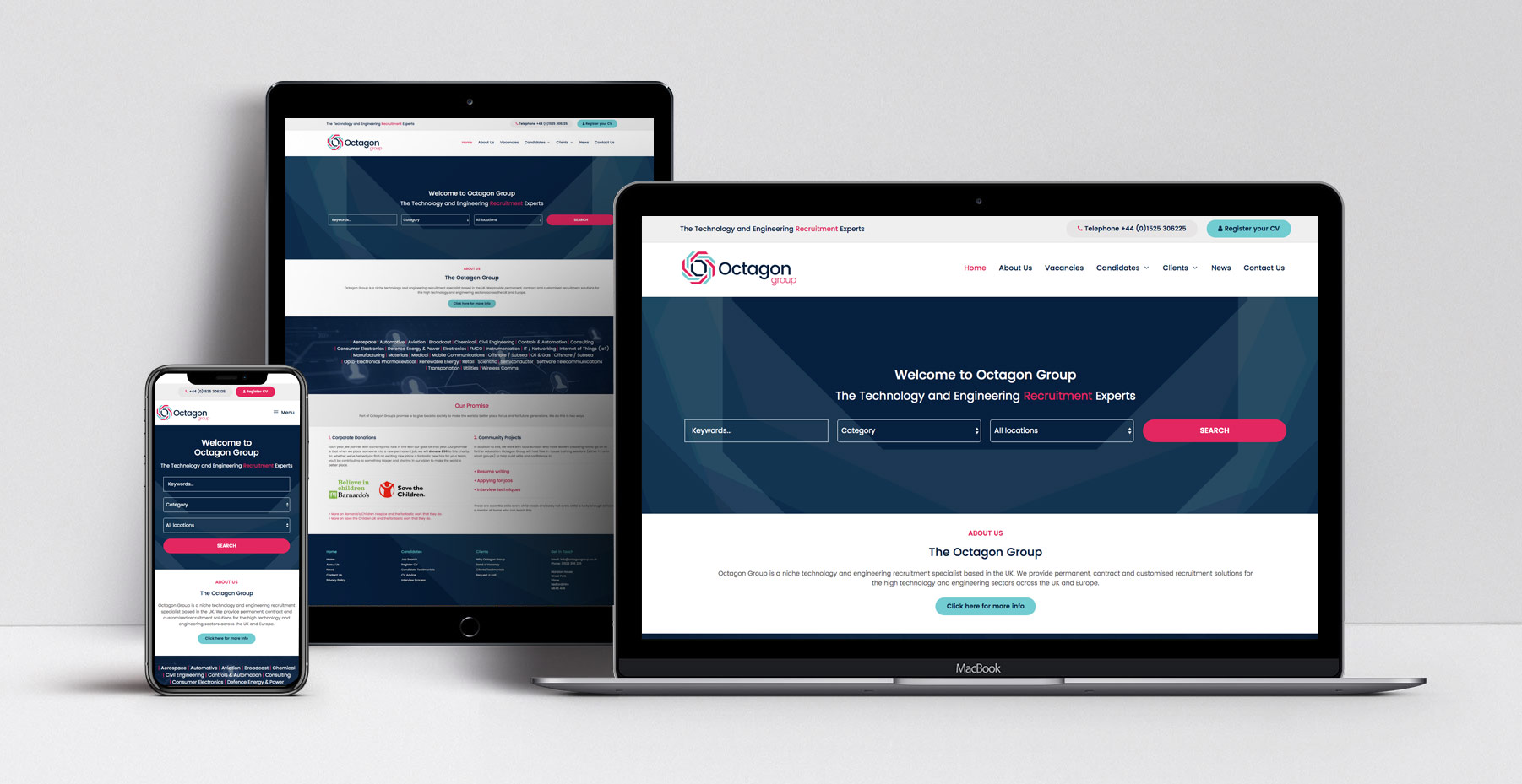 Octagon Recruitment Web Design Custom Websites For Witshire Businesses