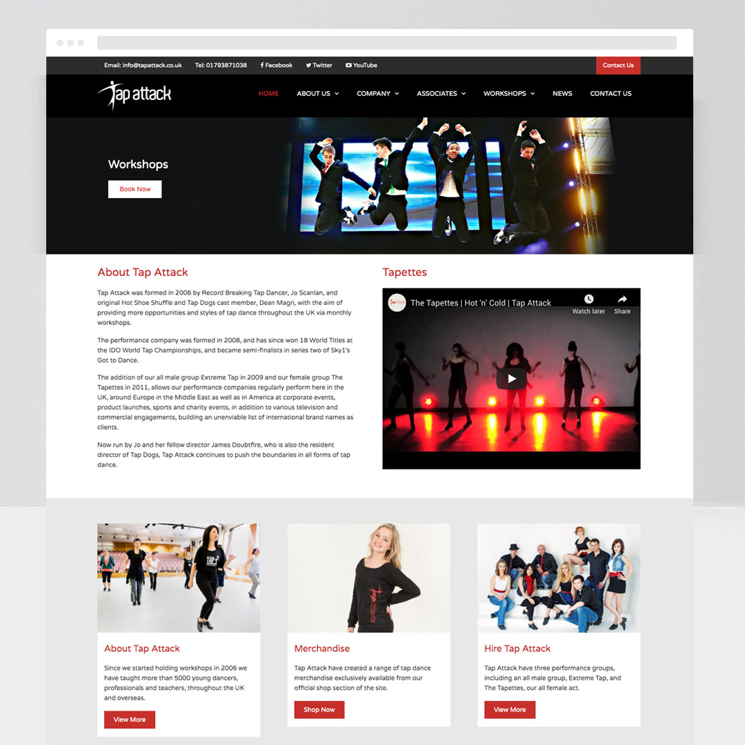 Tap Attack Web Design Custom Websites For Witshire Businesses